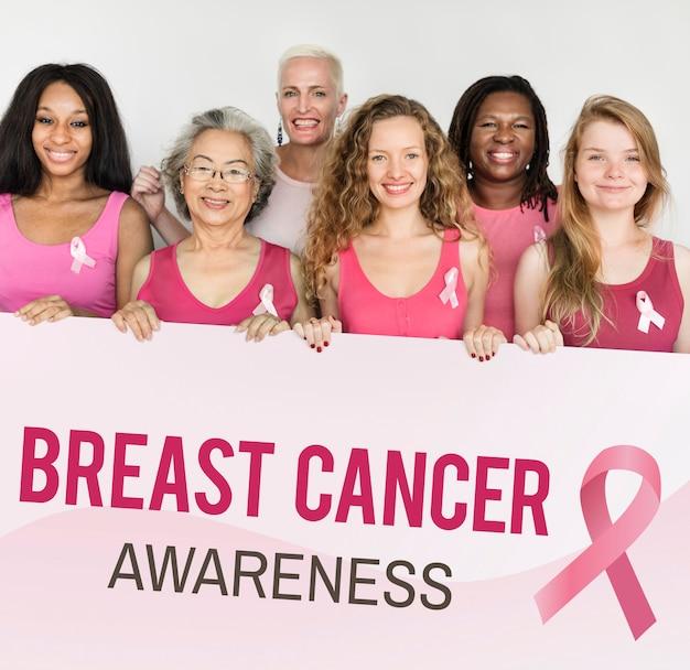 Roze lint borst kanker bewustzijn concept