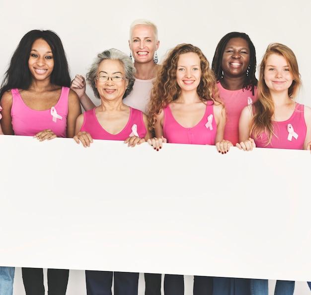 Roze lint borst kanker bewustzijn kopie ruimte banner concept