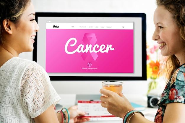 Roze lint borstkanker bewustzijn liefdadigheid donaties concept