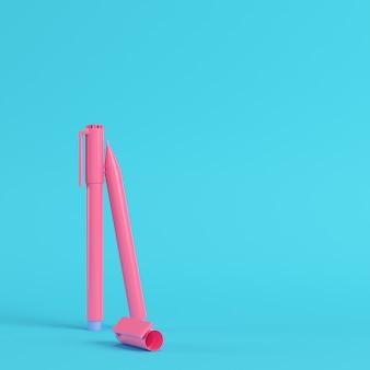 Roze markeerstiften in pastelkleuren