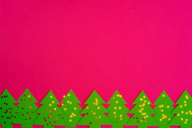 Roze met kerstversiering decoraties patroon