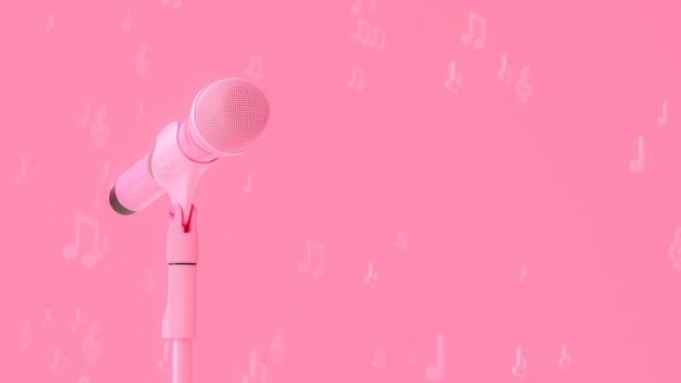 Roze microfoonmuziek
