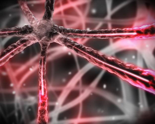 Roze microscopisch zenuwstelsel