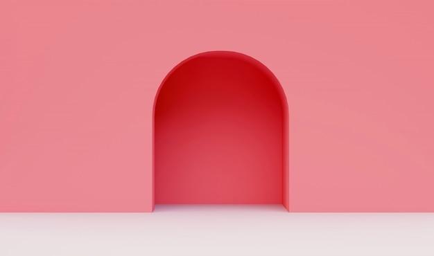 Roze muur minimaal