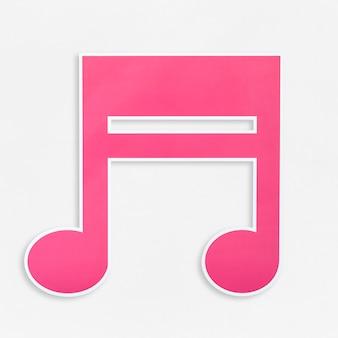 Roze muziek notitiepictogram geïsoleerd