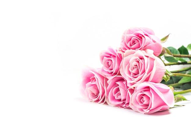 Roze nam op witte achtergrond toe
