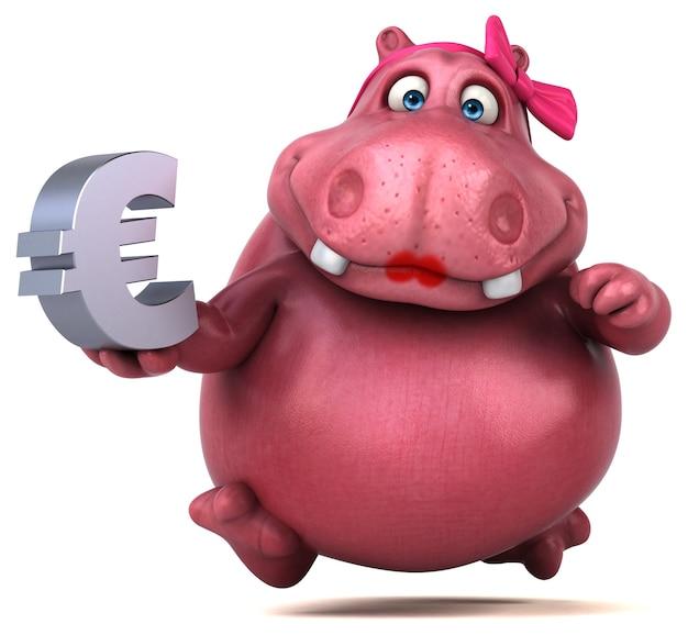 Roze nijlpaard