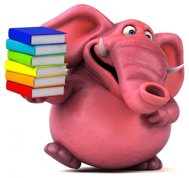 Roze olifant - 3d illustratie