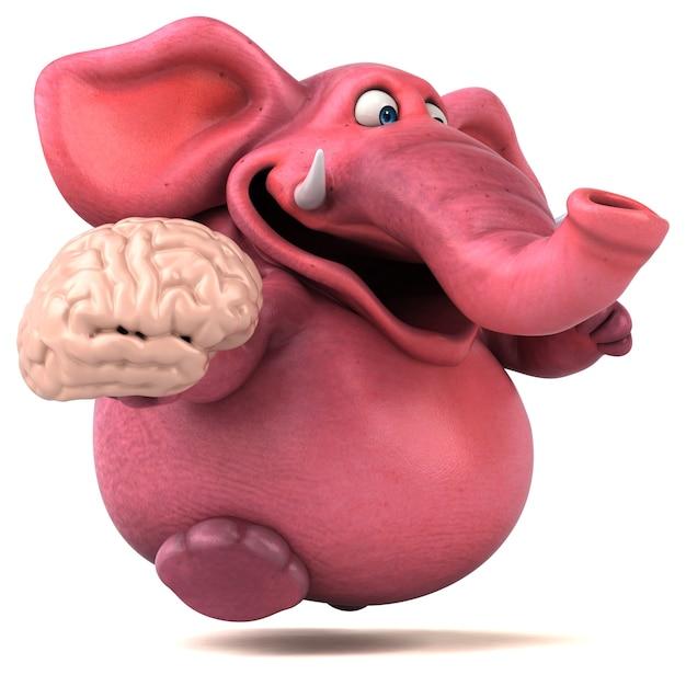 Roze olifant illustratie