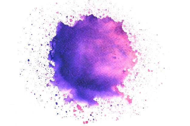 Roze paarse aquarel vlek met kleurtinten penseelstreek