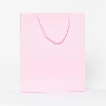 Roze papieren boodschappentas