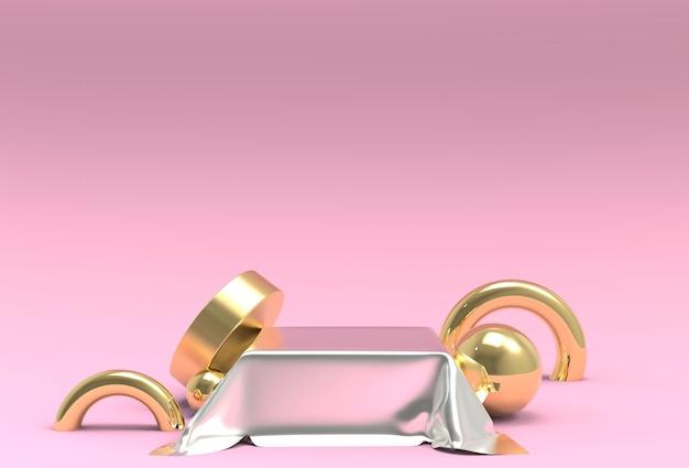 Roze pastel product staan op