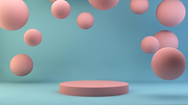 Roze platform zwevende bollen