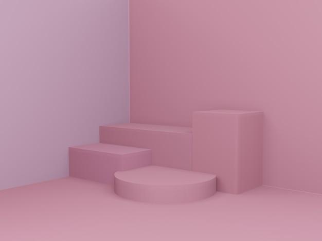 Roze roos geometrische scène minimaal