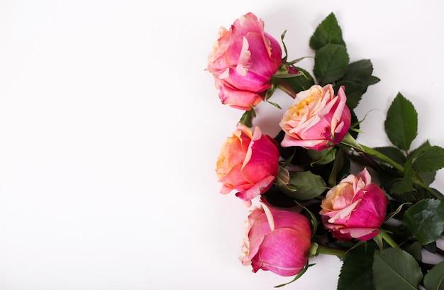 Roze rozen boeket geïsoleerd