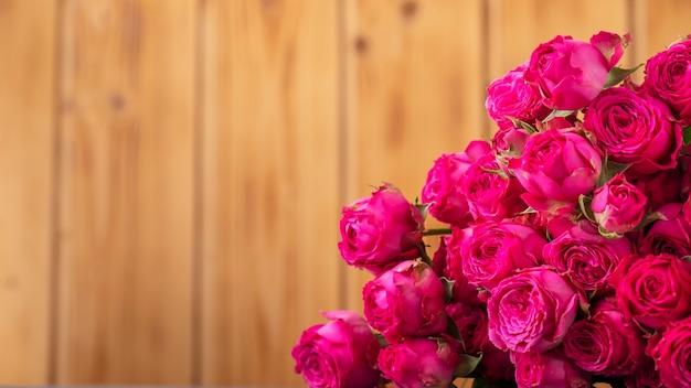 Roze rozen flovers met kopie ruimte