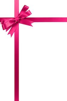 Roze strik en lint
