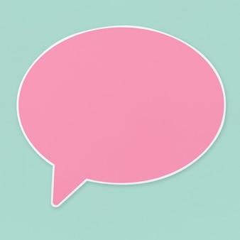 Roze toespraak bubble pictogram geïsoleerd