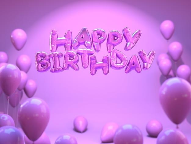 Roze verjaardagsbrieven met ballonnen