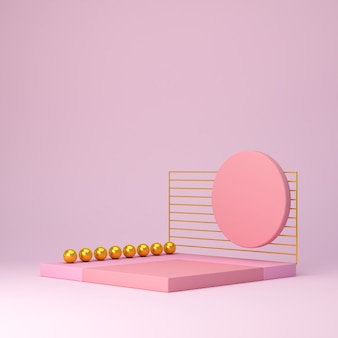 Roze vormen op een roze abstracte achtergrond