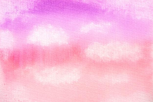 Roze zachte wolkenwaterverf