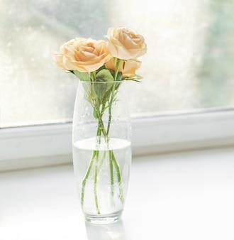 Rozen voor moederdag, sjabloonkaart voor 8 maart