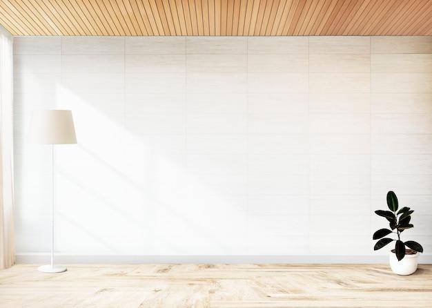 Rubber fig.installatie in een lege ruimte