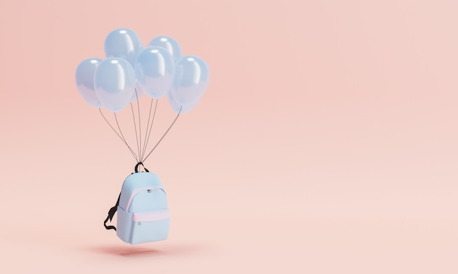 Rugzak met ballonnen