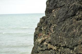 Ruige zee rotsen