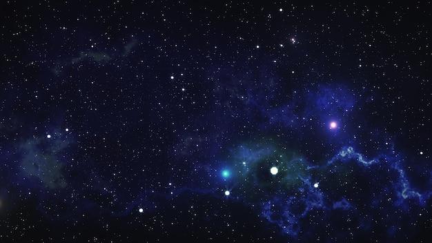 Ruimte nevel. 3d illustratie, voor gebruik met projecten op het gebied van wetenschap, onderzoek en onderwijs.