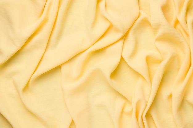 Ruimte van gele stof. kopieer ruimte