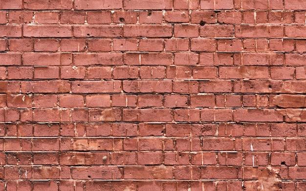 Ruimte van het de textuurexemplaar van de grunge de bruine bakstenen muur