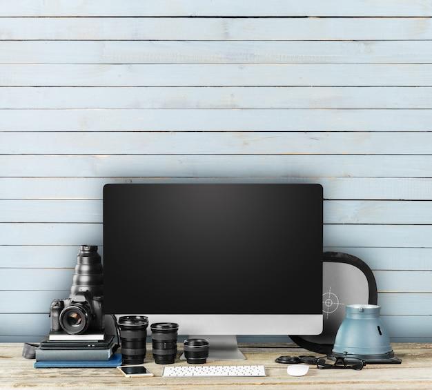 Ruimtefotograaf met digitale camera