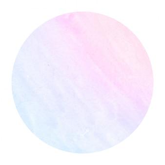 Ruimtekleuren hand getekende aquarel circulaire frame achtergrondstructuur met vlekken