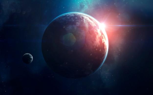 Ruimtekunst, ongelooflijk mooi sciencefictionbehang. eindeloos universum.