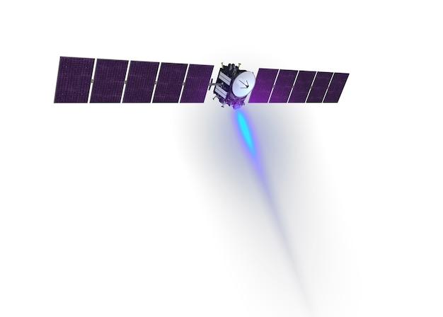 Ruimtesatelliet geïsoleerd op een witte achtergrond. elementen van deze afbeelding zijn geleverd door nasa. voor elk doel.