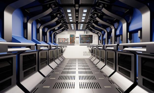 Ruimteschip gang en geheime keldergang interieur