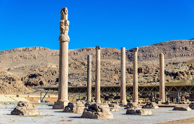 Ruïnes van apadana-paleis in persepolis - iran