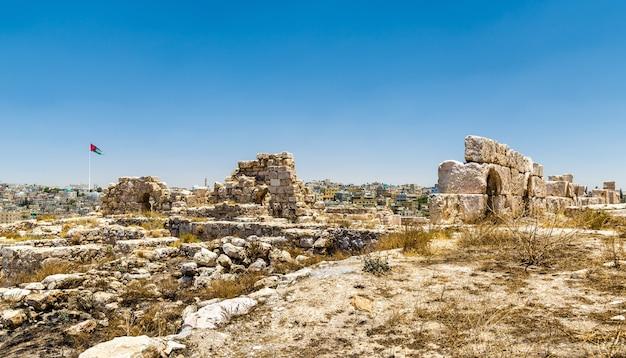 Ruïnes van de citadel van amman in jordanië