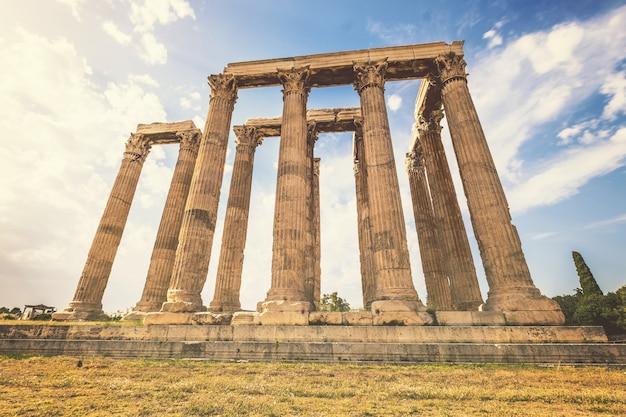 Ruïnes van de tempel van de olympische zeus in athene