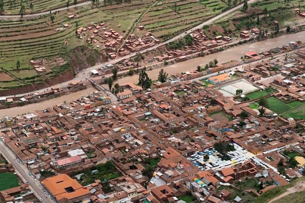 Ruïnes van pisaq inca, heilige vallei, cusco gewest, peru