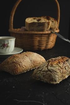 Ruiten brood ontbijt panaderia Premium Foto