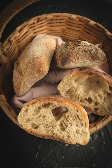 Ruiten brood ontbijt panaderia