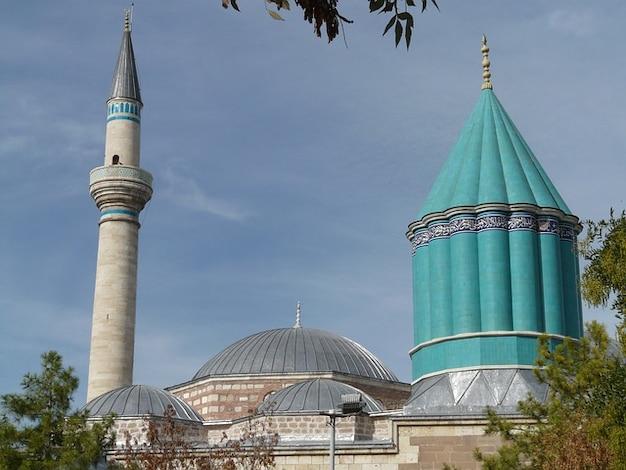 Rumi jalal mausoleum moskee mevlana advertentie din konya