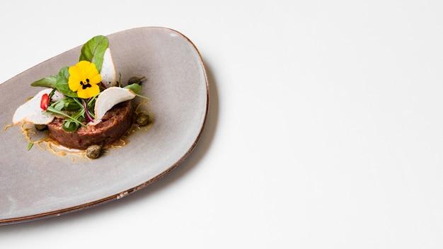 Rundvlees gastronomisch eten kopie ruimte