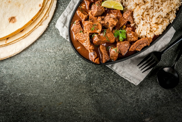 Rundvlees met rijst