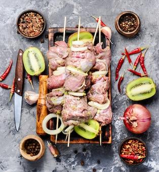 Rundvlees shish kebab