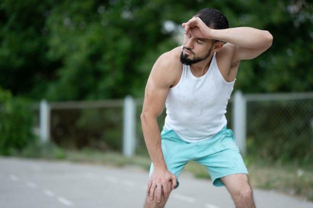 Runner rusten na het hardlopen