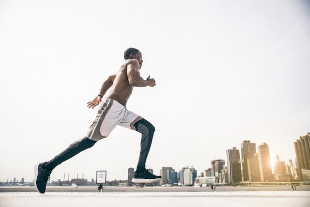 Runner training buiten