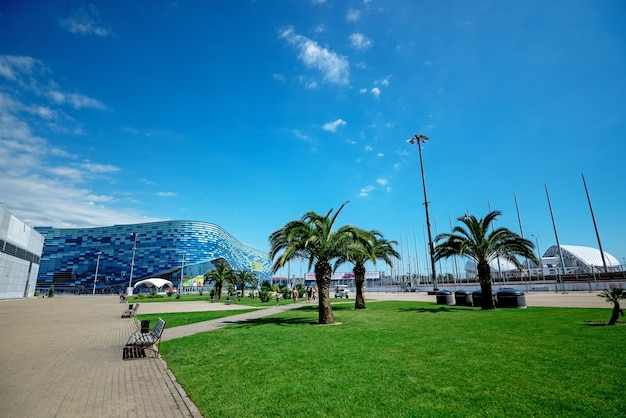 Rusland, sochi - 18 juni 2021: olympisch park in sochi.
